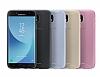 Samsung Jelly Cover Galaxy J7 Pro 2017 Orjinal Şeffaf Gold Silikon Kılıf - Resim 1