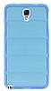 Samsung N7500 Galaxy Note 3 Neo Bubble Şeffaf Mavi Silikon Kılıf