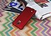 Samsung N9100 Galaxy Note 4 Mat Kırmızı Silikon Kılıf - Resim 1