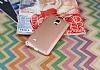 Samsung N9100 Galaxy Note 4 Mat Rose Gold Silikon Kılıf - Resim 1