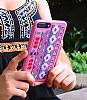 Santa Barbara Kaleido iPhone 7 Plus / 8 Plus Pembe Deri Rubber Kılıf - Resim 1