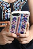 Santa Barbara Kaleido iPhone 7 Plus / 8 Plus Krem Deri Rubber Kılıf - Resim 1