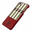 Santa Barbara Plaide iPhone 7 Plus / 8 Plus Kırmızı Rubber Kılıf - Resim 1