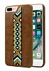 Santa Barbara Totern iPhone 7 Plus / 8 Plus Kahverengi Deri Rubber Kılıf - Resim 2