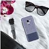 Santa Barbara Virtuoso Samsung Galaxy S9 Deri Lacivert Rubber Kılıf - Resim 1