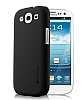 SGP Samsung i9300 Galaxy S3 Mat Siyah Sert Rubber Kılıf
