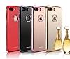 Shengo iPhone 7 Plus / 8 Plus Taşlı Kırmızı Silikon Kılıf - Resim 2