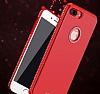 Shengo iPhone 7 Plus / 8 Plus Taşlı Kırmızı Silikon Kılıf - Resim 1