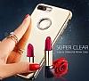 Shengo iPhone 7 Plus / 8 Plus Taşlı Kırmızı Silikon Kılıf - Resim 3