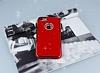 Shengo iPhone 7 Plus Taşlı Kırmızı Silikon Kılıf - Resim 2