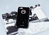 Shengo iPhone 7 Plus Taşlı Siyah Silikon Kılıf - Resim 1