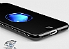 Shengo iPhone 7 Silikon Kenarlı Taşlı Kalp Siyah Rubber Kılıf - Resim 7