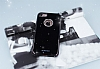 Shengo iPhone 7 / 8 Taşlı Siyah Silikon Kılıf - Resim 2