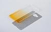 Sony Xperia C5 Ultra Simli Silver Silikon Kılıf - Resim 4