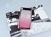Sony Xperia E5 Simli Parlak Pembe Silikon Kılıf - Resim 1