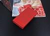 Sony Xperia L1 Gizli Mıknatıslı Yan Kapaklı Kırmızı Deri Kılıf - Resim 1
