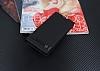 Sony Xperia L1 Gizli Mıknatıslı Yan Kapaklı Siyah Deri Kılıf - Resim 1