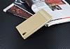 Sony Xperia L1 Gizli Mıknatıslı Yan Kapaklı Gold Deri Kılıf - Resim 2