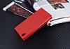 Sony Xperia L1 Gizli Mıknatıslı Yan Kapaklı Kırmızı Deri Kılıf - Resim 2