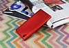 Sony Xperia L1 Mat Kırmızı Silikon Kılıf - Resim 2