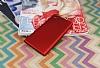 Sony Xperia L1 Mat Kırmızı Silikon Kılıf - Resim 1