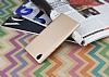 Sony Xperia L1 Tam Kenar Koruma Gold Rubber Kılıf - Resim 2