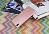 Sony Xperia L1 Tam Kenar Koruma Rose Gold Rubber Kılıf - Resim 2
