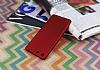 Sony Xperia M5 Mat Kırmızı Silikon Kılıf - Resim 2
