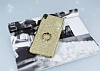 Sony Xperia XA Selfie Yüzüklü Simli Gold Silikon Kılıf - Resim 1