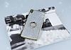 Sony Xperia XA Selfie Yüzüklü Simli Silver Silikon Kılıf - Resim 2