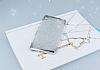 Sony Xperia XA Simli Silver Silikon Kılıf - Resim 1