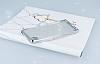 Sony Xperia XA Simli Silver Silikon Kılıf - Resim 2