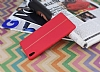 Sony Xperia XA Ultra Kadife Dokulu Kırmızı Silikon Kılıf - Resim 2