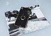 Sony Xperia XA Ultra Selfie Yüzüklü Simli Siyah Silikon Kılıf - Resim 1