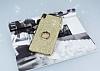Sony Xperia XA Ultra Selfie Yüzüklü Simli Gold Silikon Kılıf - Resim 1