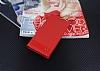 Sony Xperia XA1 Gizli Mıknatıslı Kırmızı Deri Kılıf - Resim 2