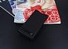 Sony Xperia XA1 Gizli Mıknatıslı Siyah Deri Kılıf - Resim 2