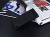 Sony Xperia XA1 Gizli Mıknatıslı Siyah Deri Kılıf - Resim 1