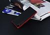 Eiroo Carbon Hybrid Sony Xperia XA1 Kırmızı Kenarlı Karbon Siyah Silikon Kılıf - Resim 2