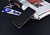 Eiroo Carbon Hybrid Sony Xperia XA1 Rose Gold Kenarlı Karbon Siyah Silikon Kılıf - Resim 2