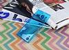 Sony Xperia XA1 Süper İnce Şeffaf Mavi Silikon Kılıf - Resim 2