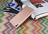 Sony Xperia XA1 Ultra Mat Rose Gold Silikon Kılıf - Resim 2