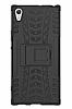 Sony Xperia XA1 Ultra Süper Koruma Standlı Siyah Kılıf - Resim 5