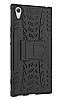 Sony Xperia XA1 Ultra Süper Koruma Standlı Siyah Kılıf - Resim 3