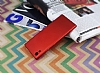 Sony Xperia XA1 Ultra Tam Kenar Koruma Kırmızı Rubber Kılıf - Resim 1