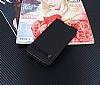 Sony Xperia XA2 Gizli Mıknatıslı Yan Kapaklı Siyah Deri Kılıf - Resim 2