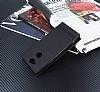 Sony Xperia XA2 Gizli Mıknatıslı Yan Kapaklı Siyah Deri Kılıf - Resim 1