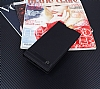 Sony Xperia XA2 Ultra Gizli Mıknatıslı Yan Kapaklı Siyah Deri Kılıf - Resim 1