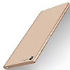 Sony Xperia XZ Premium İnce Mat Gold Silikon Kılıf - Resim 2