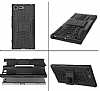 Sony Xperia XZ Premium Ultra Süper Koruma Standlı Siyah Kılıf - Resim 2